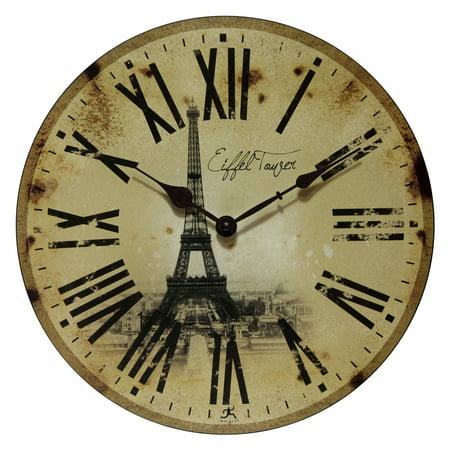 Infinity Eiffel Tower Wall Clock - Infinity Instruments Eiffel Tower 13.5W x 13.5H in. Wall Clock