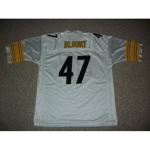 Unsigned Mel Blount Jersey #47 Pittsburgh Custom Stitched White Football New No Brands/Logos Sizes S-3XL