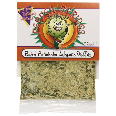 Pepper Springs Baked Artichoke Jalapeno Dip Mix, 1.0 Ounce