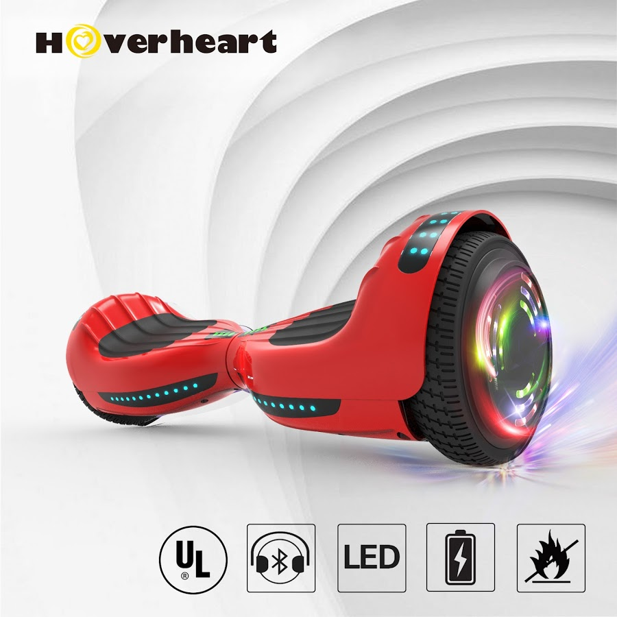 Bluetooth 6.5 Inch Hoverboard Self-Balancing Scooter LED Light UL2272 Certified Red