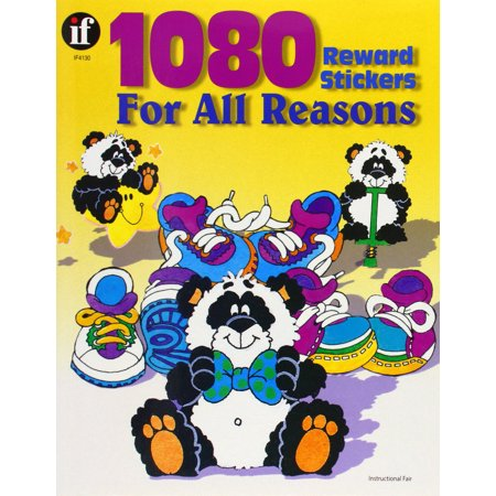 Instructional Fair 1080 Reward Stickers for All Reasons Sticker Book, 1 X 1-1/8 in