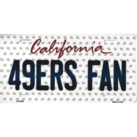 49ers California State Background Novelty Metal License Plate Tag (49ers Fan)