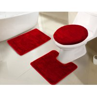 Imperial 3-Piece Bath Rug Set in Chocolate