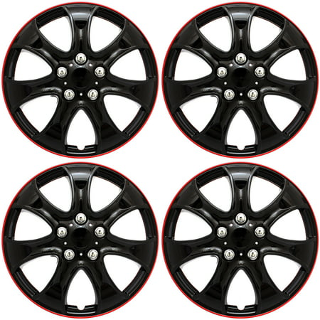 Hub Solid Rubber Wheels - Cover Trend (Set of 4), Universal 15