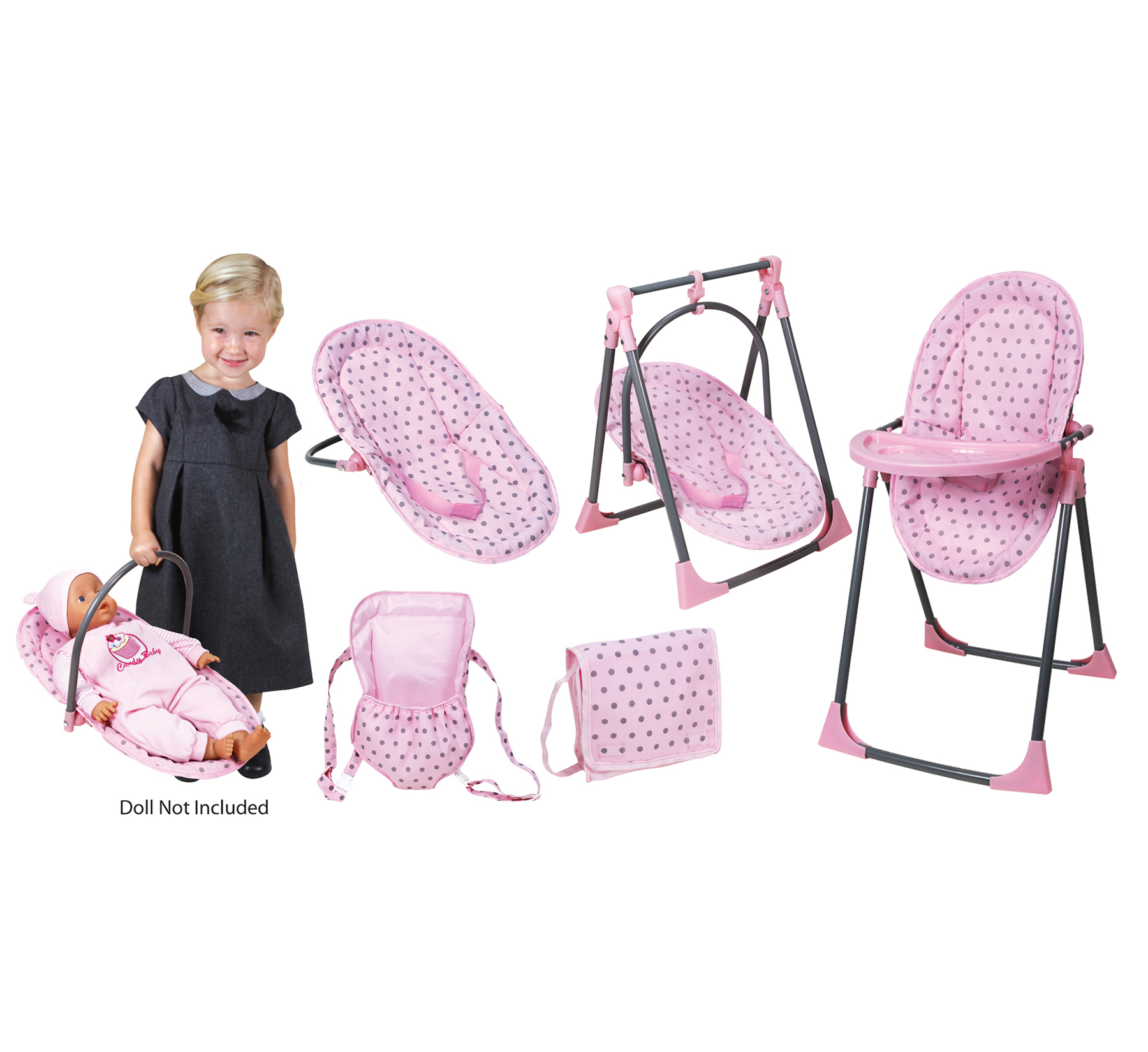 Lissi Baby Doll 6-in-1 Convertible Highchair Play Set