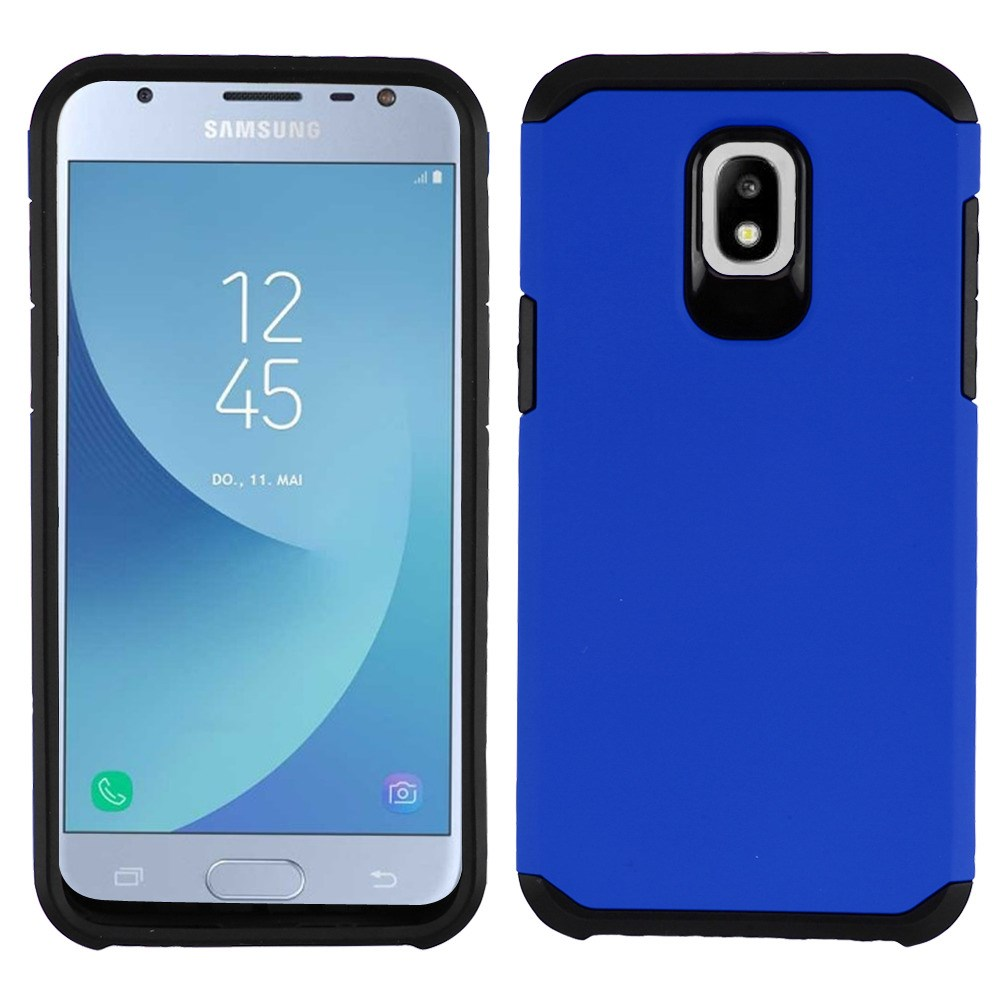 Dual Armor Case Compatible with Samsung Galaxy J3 Orbit, Slim Shockproof Hybrid Protection Cover Case for Samsung Galaxy J3 Orbit - Blue