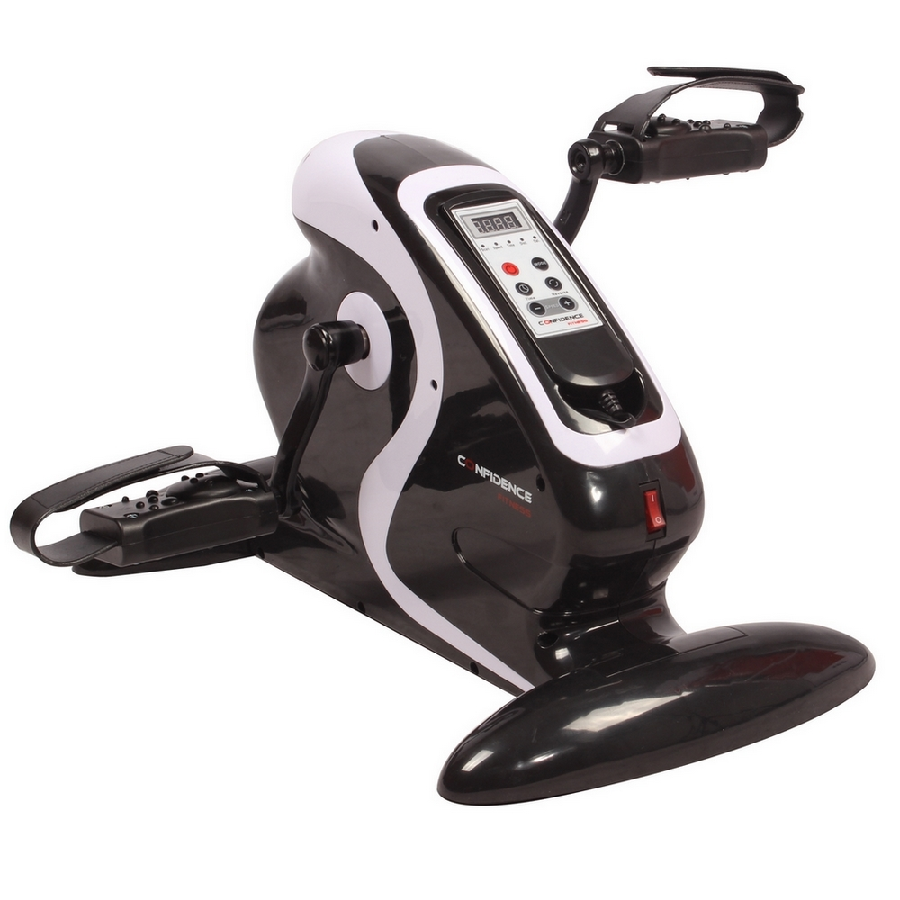 Confidence Fitness Motorized Electric Mini Exercise Bike / Pedal Exerciser Black