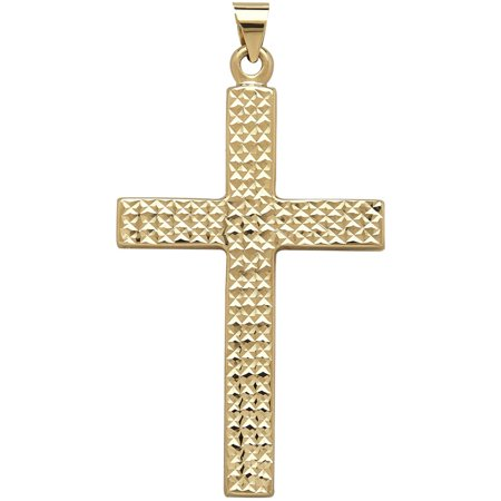 Simply-Gold-Precious-Sentiments-10kt-Yellow-Gold-Cross-Mens-Charm