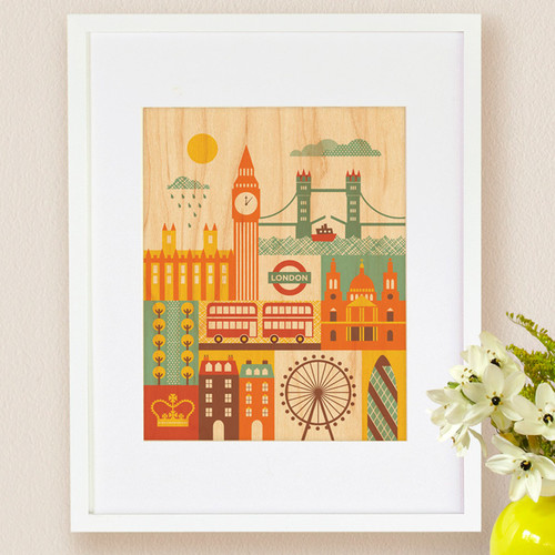 Petit Collage London, Small Framed Art