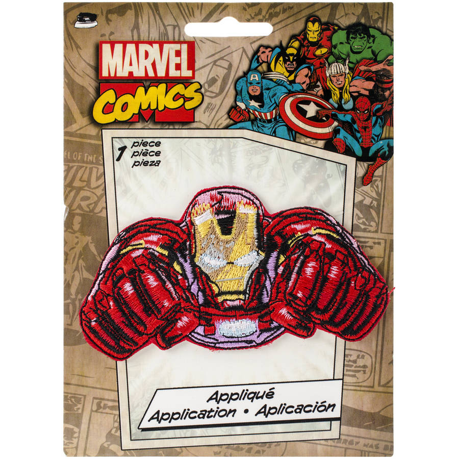 "Marvel Comics Patch, Retro Iron Man Flying, 4"" x 2.125"""