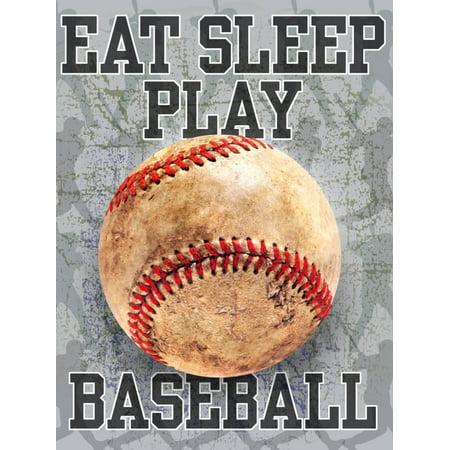 Eat Sleep Play Baseball Children's Rooms Kid's Sports Print Wall Art By Jim Baldwin Baseball Jersey Wall Art