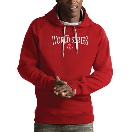 Boston Red Sox Antigua 2018 World Series Bound Victory Pullover Hoodie - Red Boston Red Sox Hooded Sweatshirt