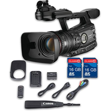 Canon XF305 HD Professional Camcorder + 2 PC 16 GB Memory Cards + All Manufacturer Accessories Gigabyte Pc Card Memory