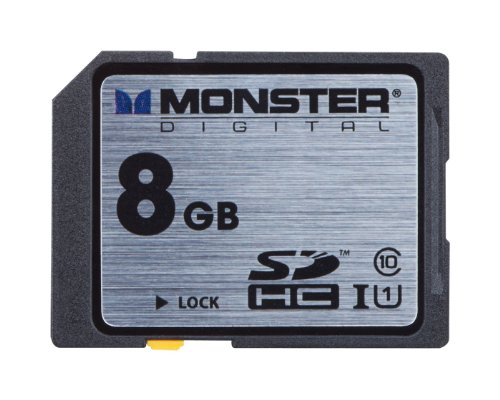 Monster Digital Monster Digital Vault Series 8 GB SDHC Class 10 Memory Card FSD-0008
