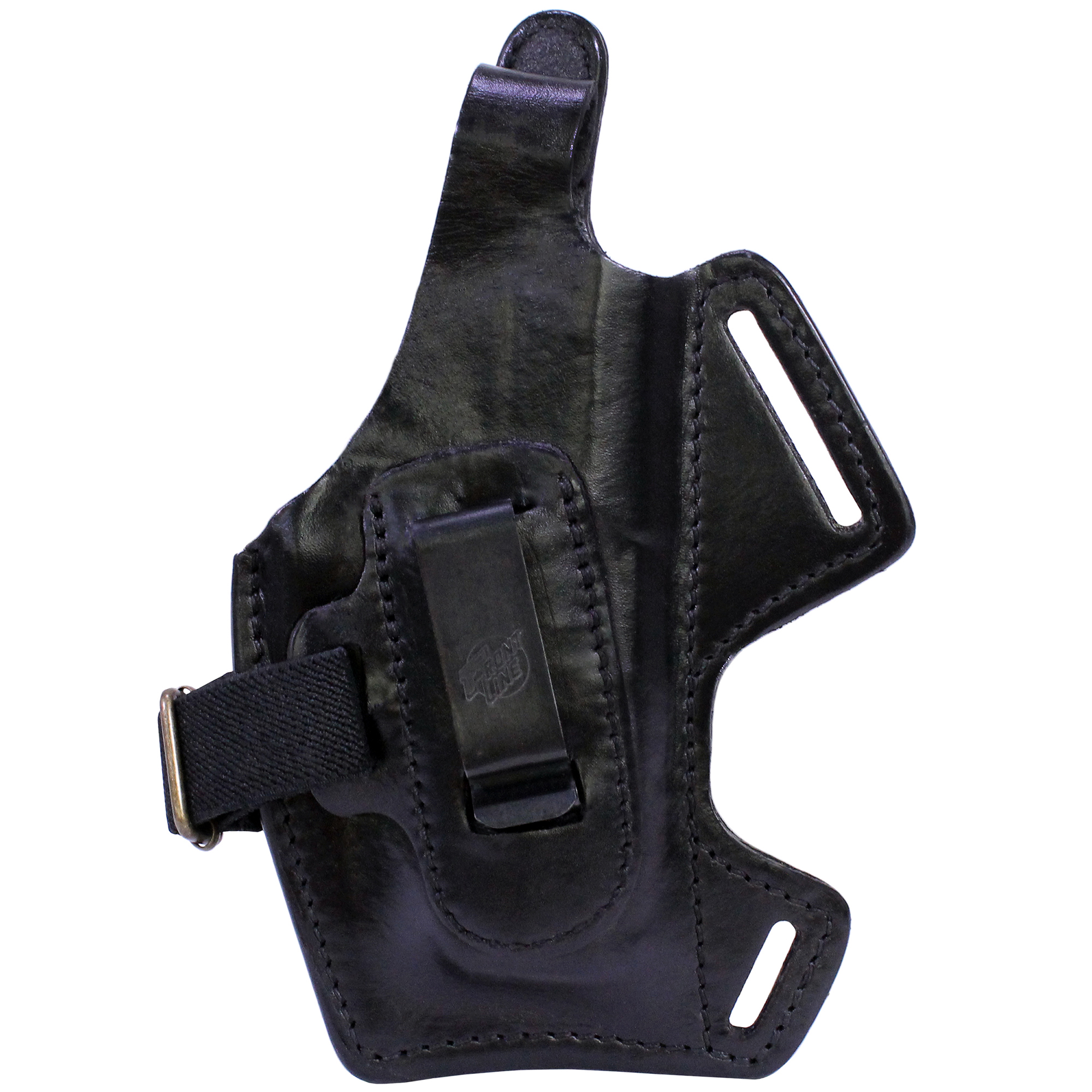 Frontline Fast Draw 5 Way Leather Shoulder Holster H&K P2000, Black, Right Hand
