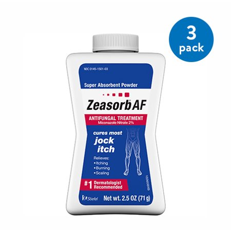 (3 Pack) Zeasorb Antifungal Treatment Super Absorbant Powder for Jock Itch, 2.5 ounce