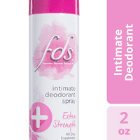 FDS Intimate Deodorant Spray, Unscented, 2 Oz