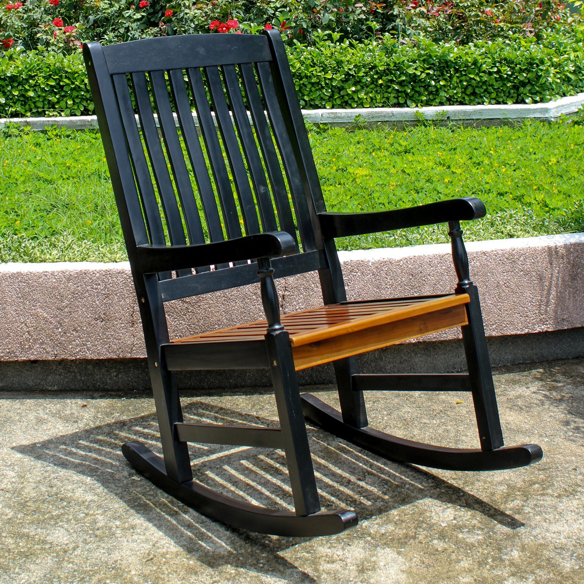 Highland Rocking Chair with UV Paint Antiqued Finish