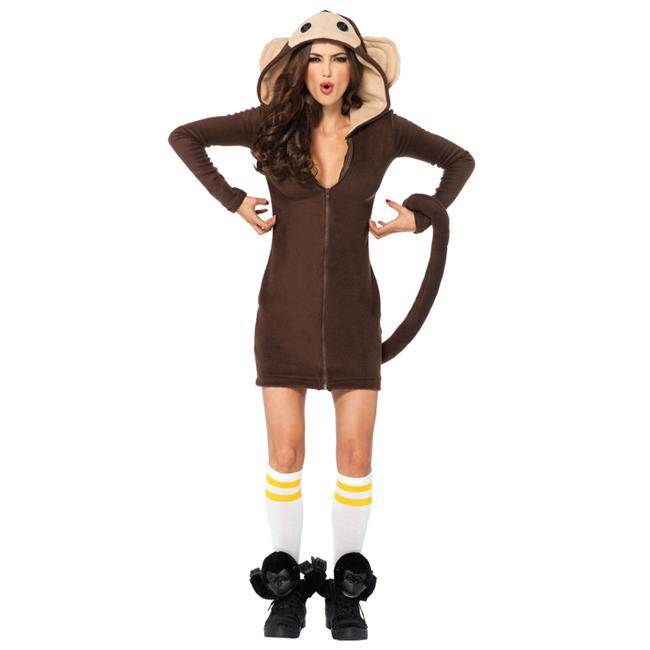 Morris Costume UA85309LG Cozy Monkey Adult Costume, Large