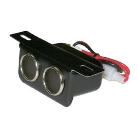 DUAL CIGARETTE LIGHTER SOCKET UNDER DASH MOUNT, Easy to Install By First Source