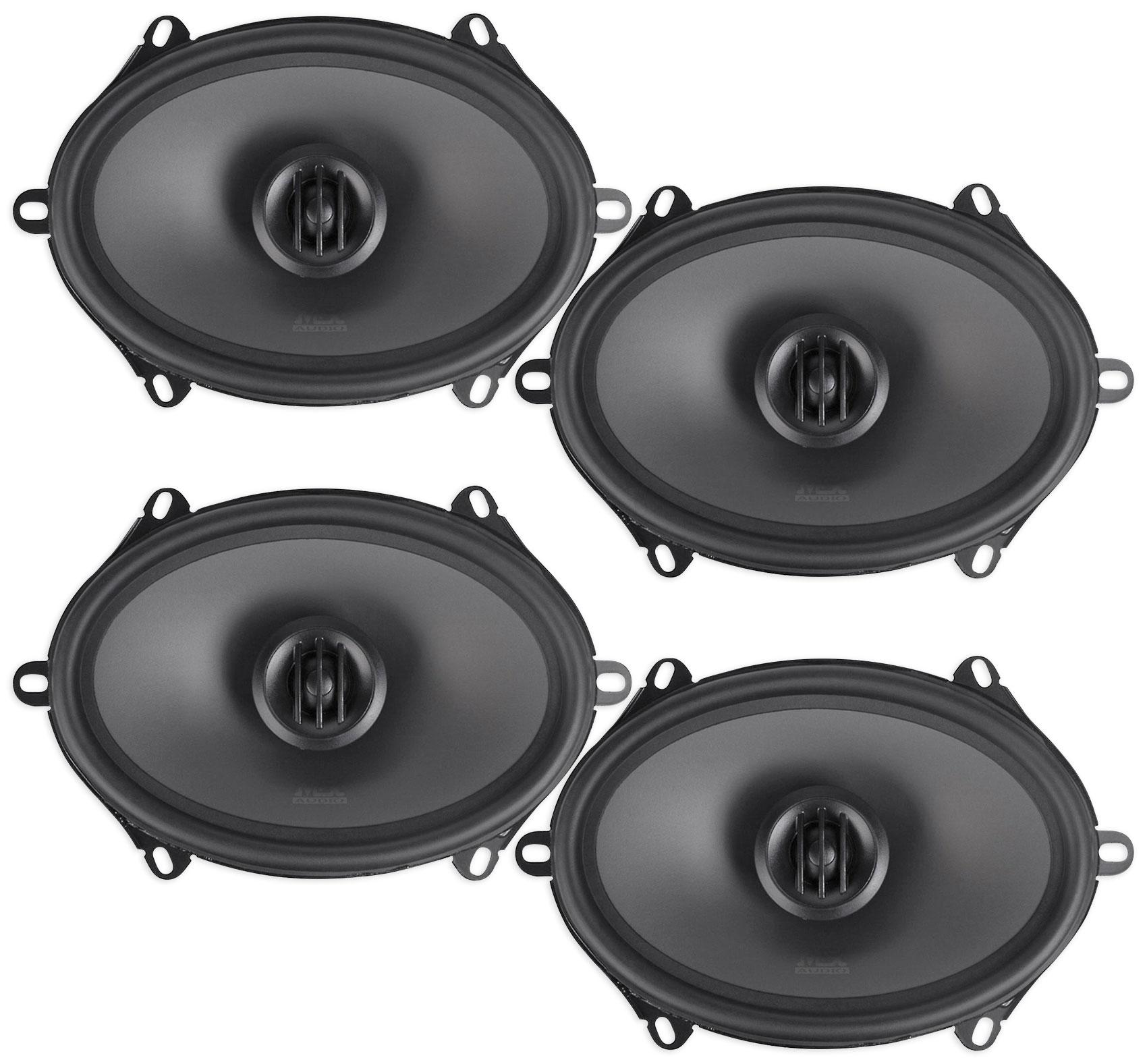 "(4) MTX THUNDER68 5x7"" / 6x8"" 480 Watt 2-Way Car Audio Coaxial Speakers"