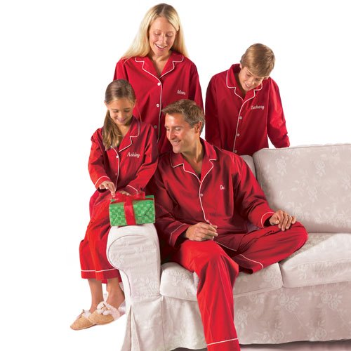 personalized kids red pajamas walmartcom - Walmart Christmas Pajamas
