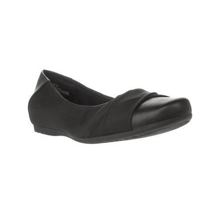 Womens Baretraps Misty Wedge Ballet Flats, Black (Misty Cosplay Shoes)