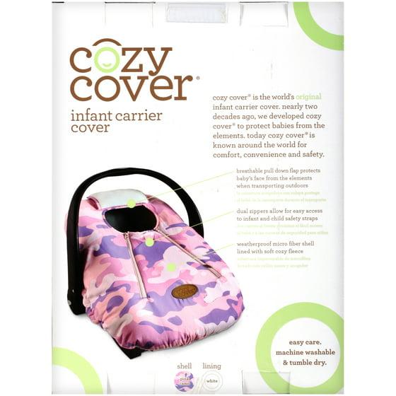 Superb Cozy Cover Infant Carrier Cover Secure Baby Car Seat Cover Gray Inzonedesignstudio Interior Chair Design Inzonedesignstudiocom