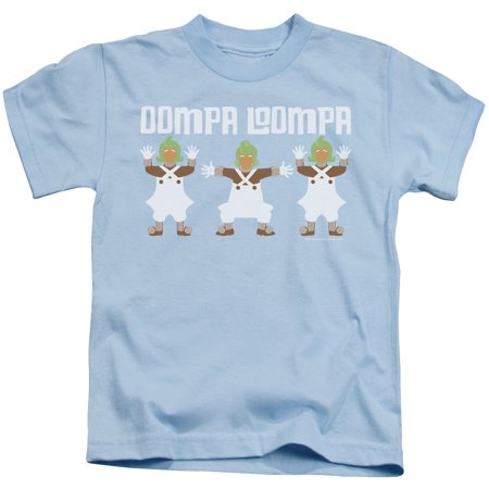Willy Wonka And The Chocolate Factory Oompa Loompa Little Boys Juvy Shirt (Light Blue, 5 6)](Blue Oompa Loompa)