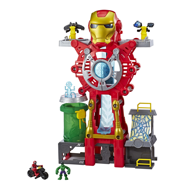 Playskool Heroes Marvel Super Hero Adventures Iron Man Headquarters Hulk 7F2Szm1