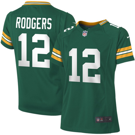 104ee4dc Aaron Rodgers Green Bay Packers Nike Girls Youth Game Jersey - Green -  Walmart.com