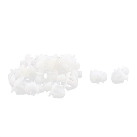 Buick Door Seals - 20 Pcs White Plastic Door Seal Nail Rivet Trim Mat Clip for Buick