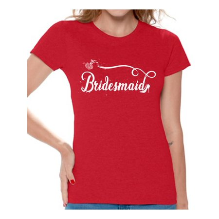 Awkward Styles Bridesmaid Tshirt for Women Bride's Entourage Shirt Bridesmaid Shirt Funny Wedding Gifts Bridal Party Shirt Bachelorette Party Outfit Birde Squad Shirt Cute Gifts for Bridesmaids - Wild West Outfits For Ladies