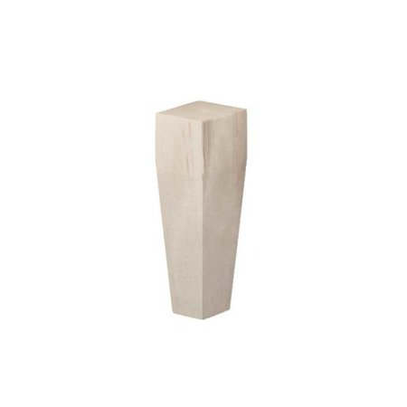 Brown Wood Square Tapered Bun Foot Unfinished Hard Maple 01705610HM1