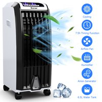 Costway Evaporative Portable Air Conditioner Cooler Fan Anion Humidify W/ Remote Control
