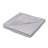 "Minky Duvet Cover for Weighted Blankets (60""x80"") - Grey Diamond"