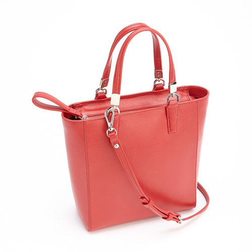 Royce Leather RFID Blocking Women's Saffiano Leather Mini Tote Cross Body Bag