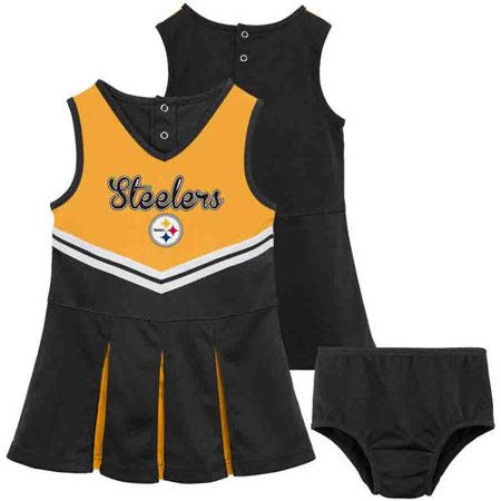 NFL Pittsburgh Steelers Toddler Cheerleader Set by