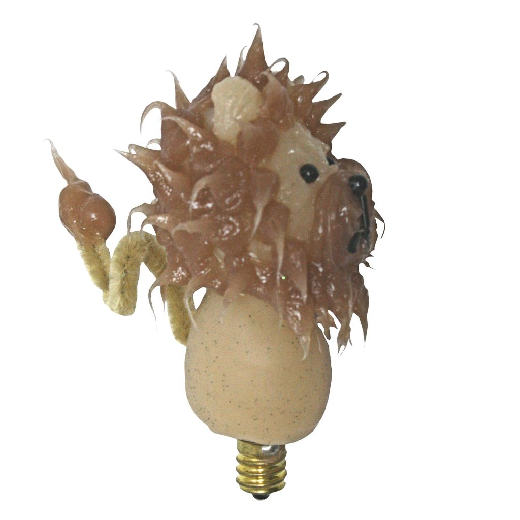 "Vickie Jean's Creations 0142565 - ""Lion Stacker"" Soft Tipped Silicone Candelabra Screw Base Light Bulb"