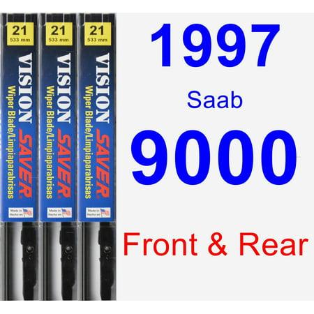 1997 Saab 9000 Wiper Blade Set/Kit (Front & Rear) (3 Blades) - Vision Saver