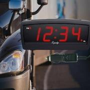 """Equity by La Crosse 30902 12V LED travel """"Trucker's"""" alarm clock"""