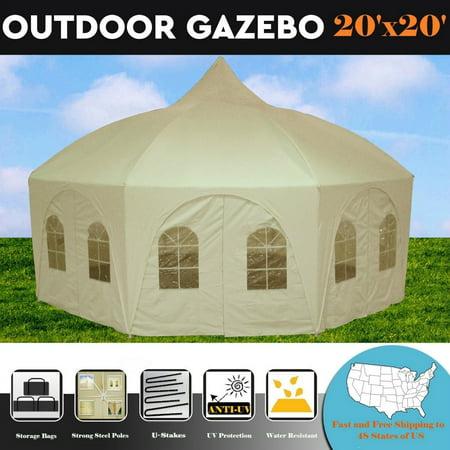 20 X20 Octagonal Wedding Gazebo Party Tent Canopy Shade