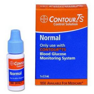 Bayer Contour TS Normal Level Control Solution 2-1/2mL