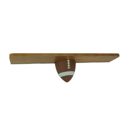 18 Inch Long Wooden Sports Wall Shelf- Football (Football Shelf)
