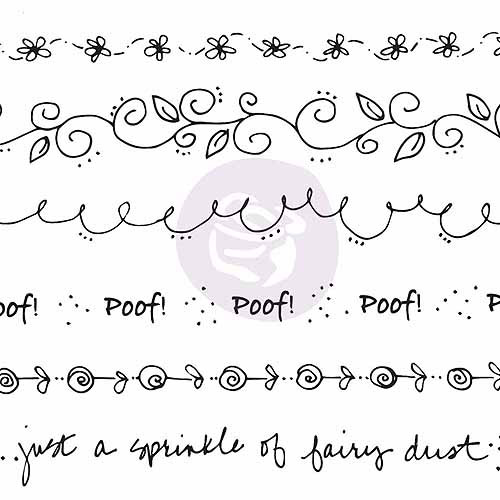 Mixed Media Doll Cling Rubber Stamps