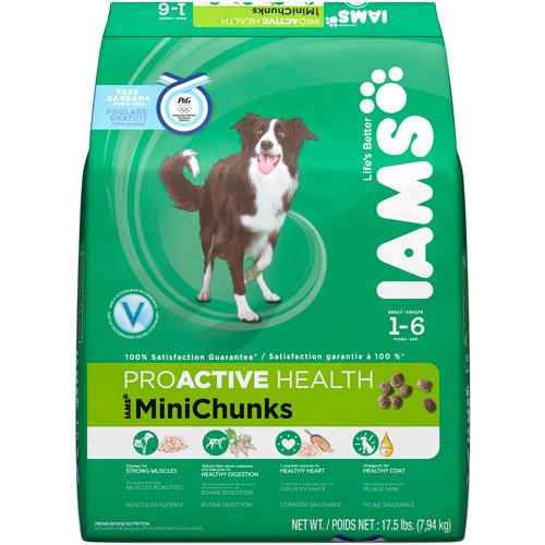 Iams Proactive Health Adult Minichunks Dog Food, 17.5 lb Olympics Limited Edition with Bonus Bandana Mail-In Offer
