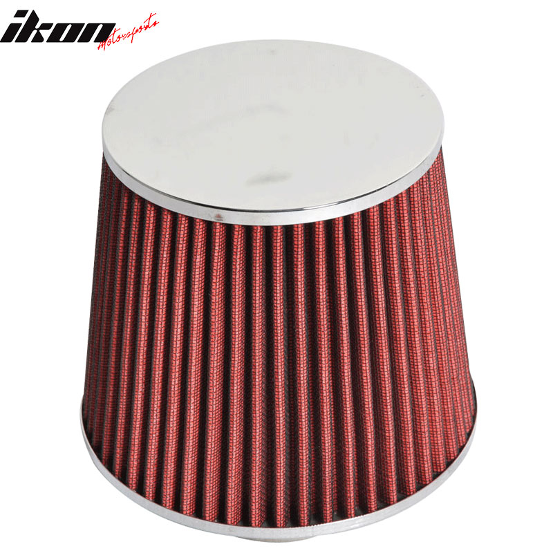 Fits 3 Inch Race Performance Cold Air Intake Cone Filter Red 88-12 Civic