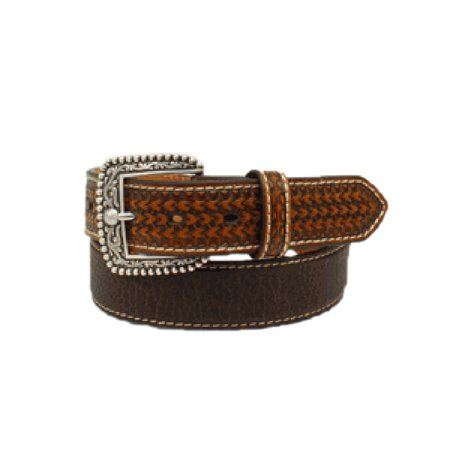 Ariat Mens Heavy Stitched Basketweave Belt Brown 34