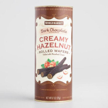 World Market® Dark Chocolate Hazelnut Cream Rolled Wafers ()
