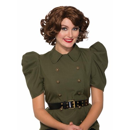 Adult 1940's Military Bombers Bombshells USO Pin Up Betty Brown Costume - 1940's Couples Costumes